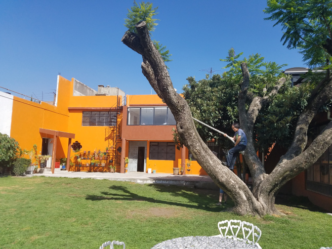 Host house in Cholula, Mexico