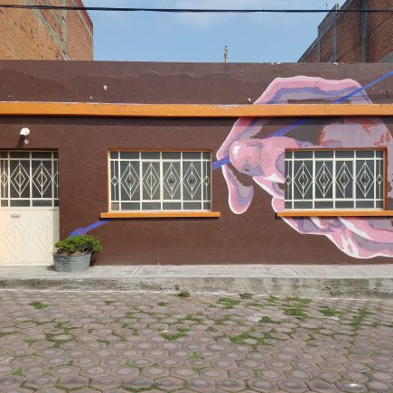 Artistic building in Cholula, Mexico