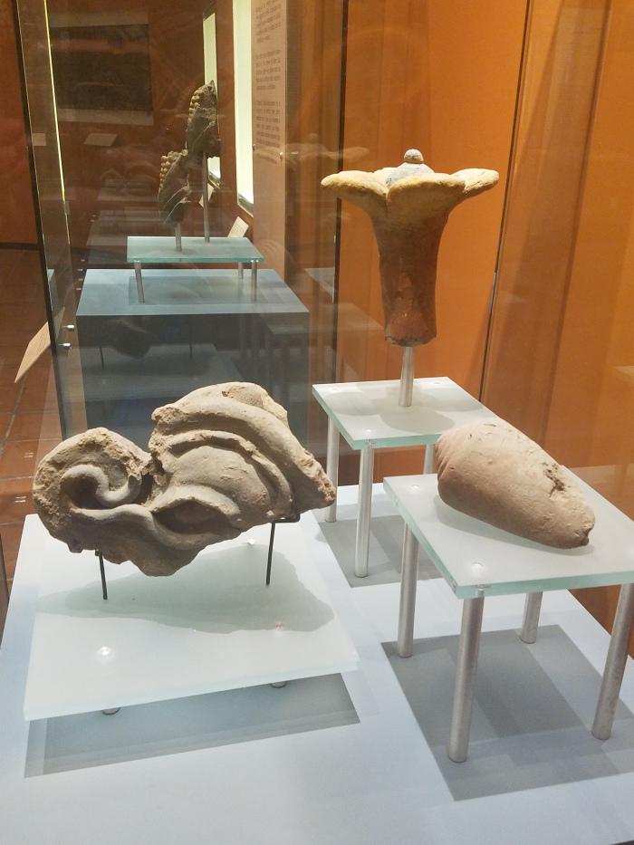 Museum artifacts at Cacaxtla