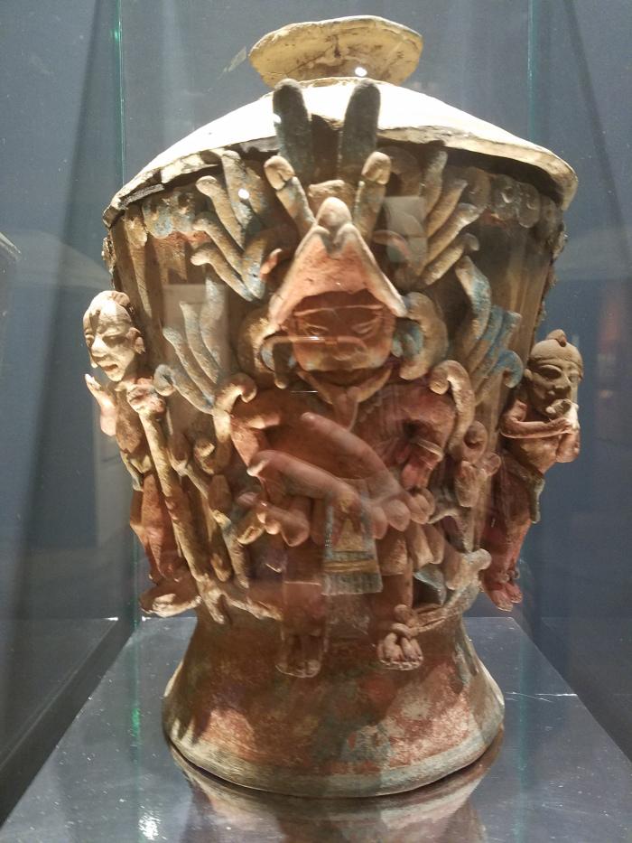 museum artifact at Cacaxtla