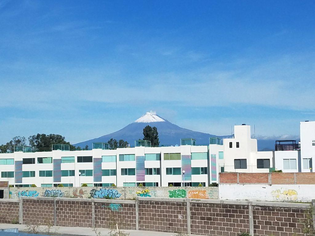 Popocatépetl – the active volcano in Cholula.