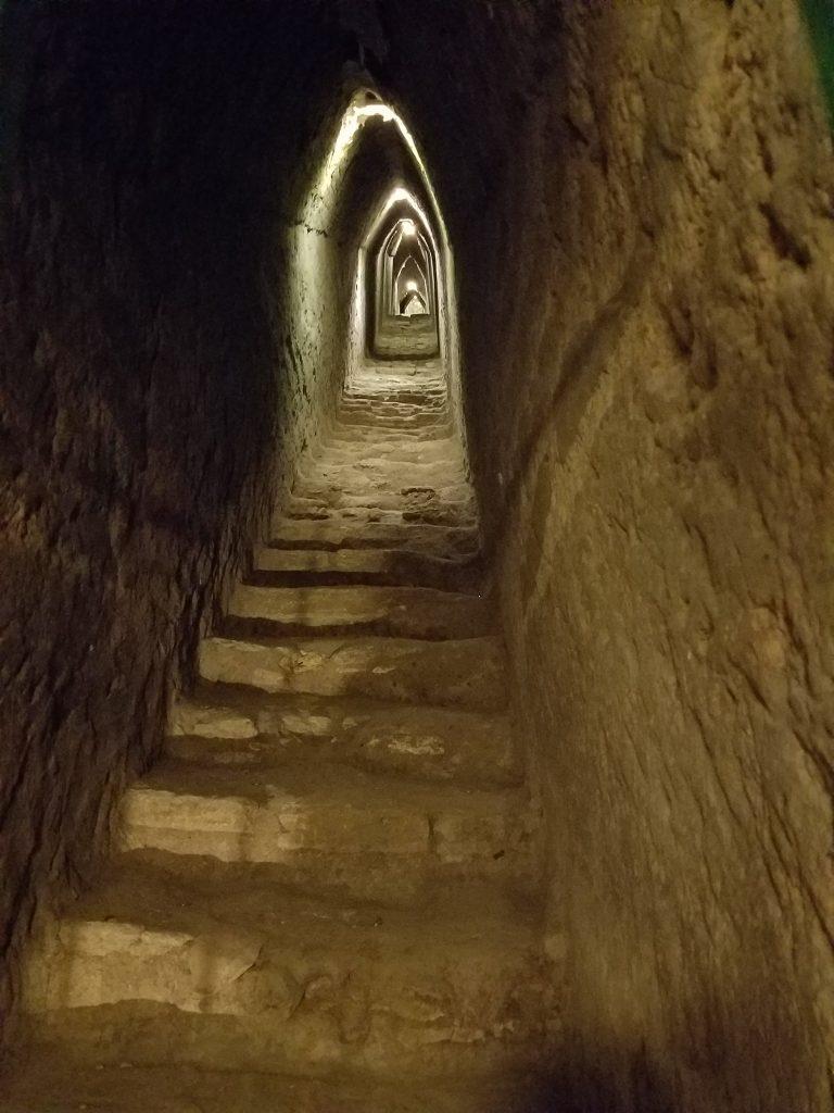 inside the pyramid of cholula