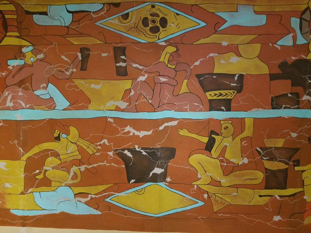 reconstruction of the mural of the bebedores