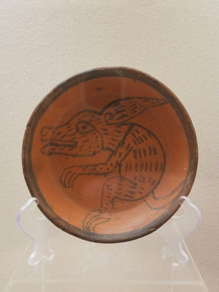 Cholula plate with image of a xolo