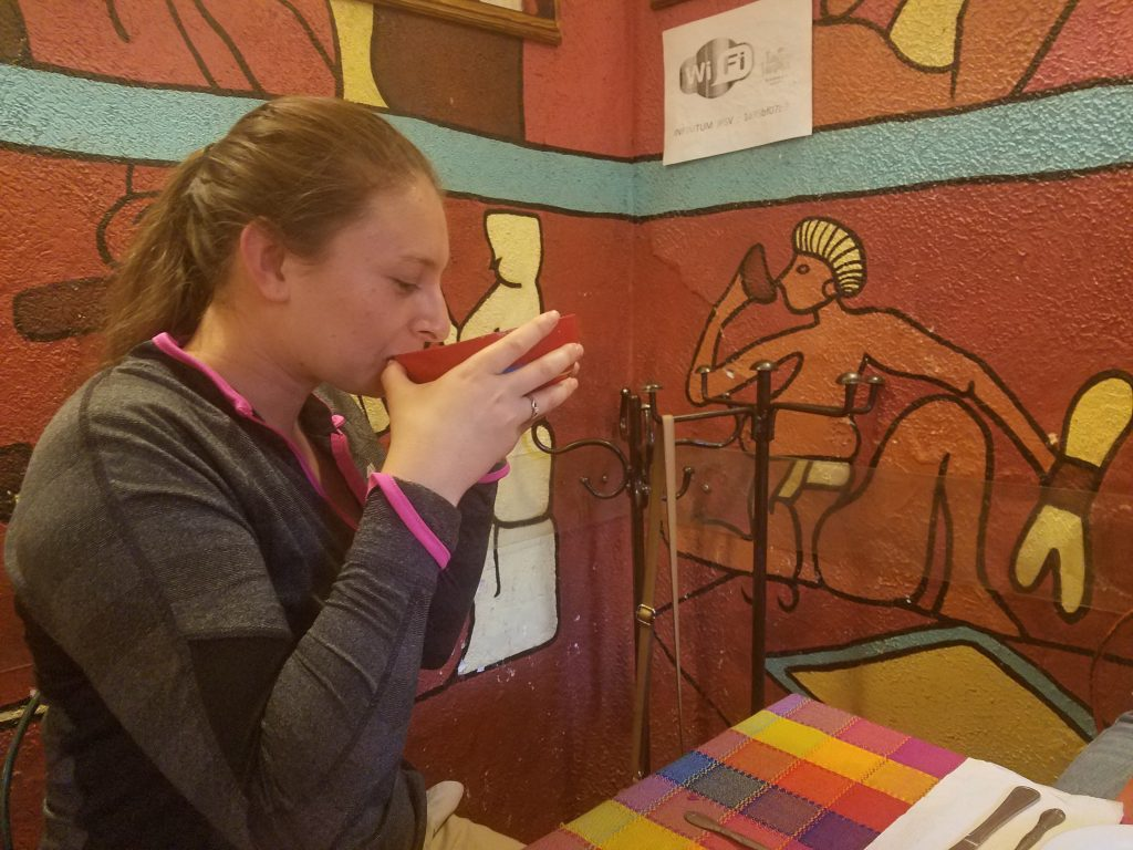 trying pulque in Mexico