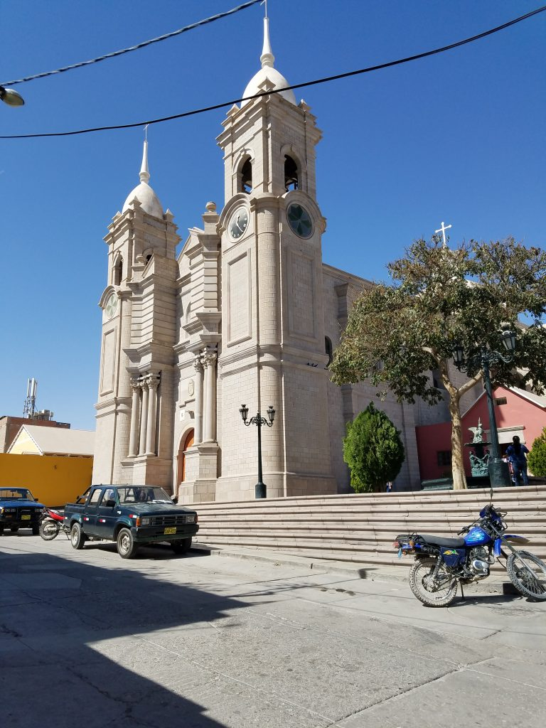 church near Moquegua's Plaza de Armas