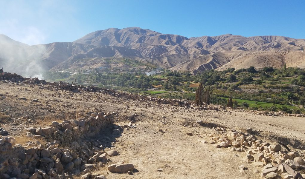 archaeological field site in Moquegua, Peru