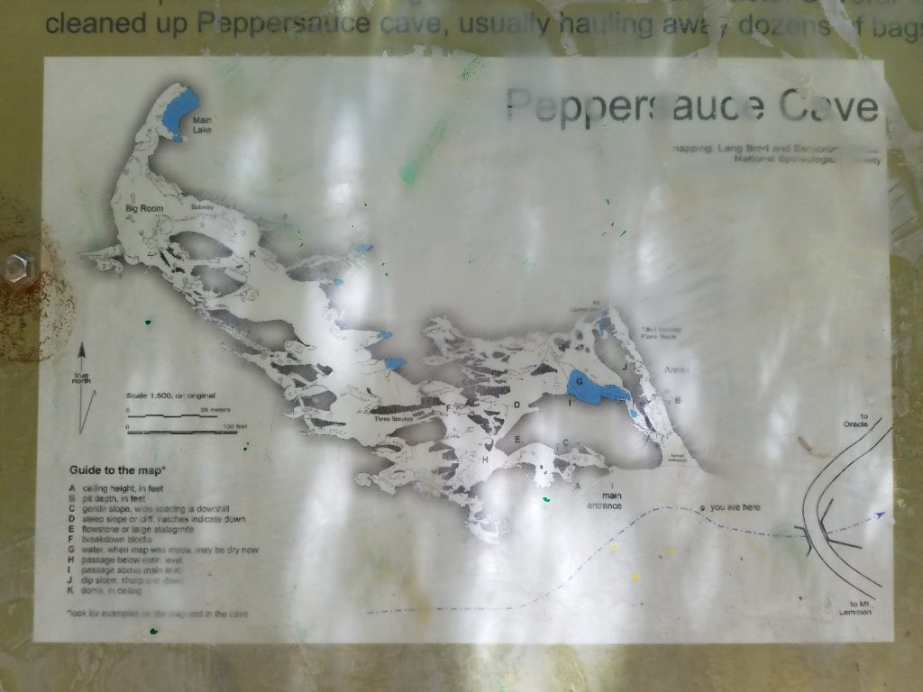 Map of Peppersauce Cave