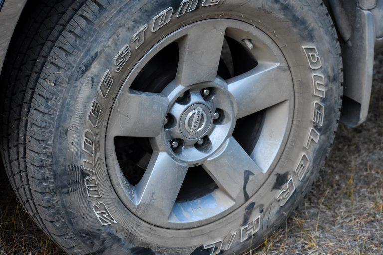 Nissan Titan tire, BLM camping