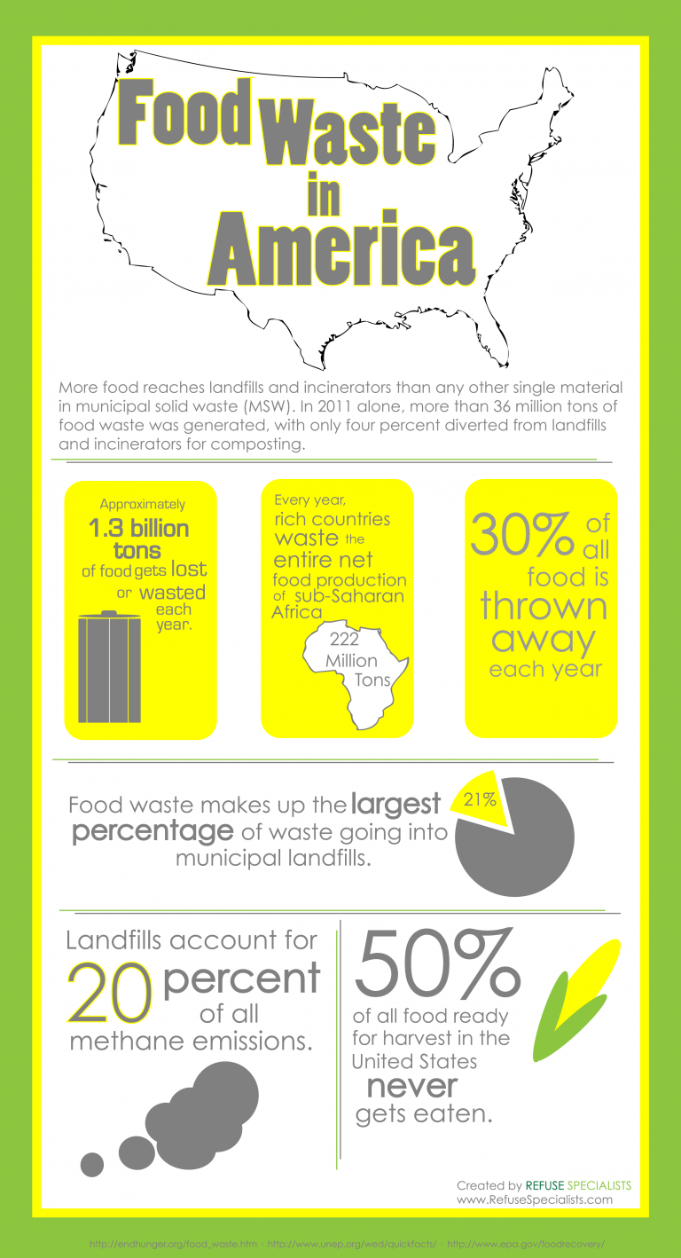 Food waste in America infographic